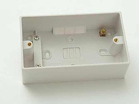 S.M.J. 47mm 2g Surface Pattress Box SMJ TWDP47 Electrical Fittings Fixings and Hardware Items Surface - Partition Boxes