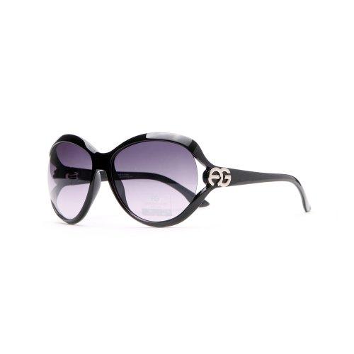 Anais Gvani Chic Open Temple Fashion Sunglasses w/ Logo Accent - Chic 2014 Sunglasses