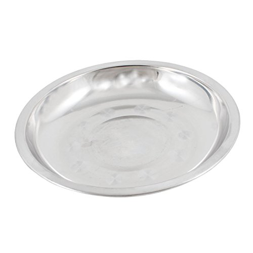 Stainless Steel Dinner Plate - TOOGOO(R) Camping 17.8cm Dia Stainless Steel Tableware Dinner Plate Food Container by TOOGOO(R) (Image #3)