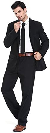 U LOOK UGLY TODAY Men's Party Suit Solid Color Prom Suit for Themed Party Events Clubbing Jacket with Tie Pants