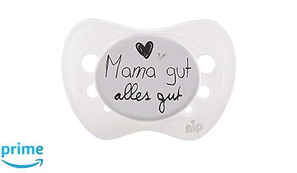 Nip 38449-51 - Chupete (silicona, 0-6 meses), diseño de mamá ...