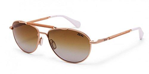 Zeal Optics Unisex Fairmont Matte Gold w / Gradient Polarized Copper Lens - Zeals Sunglasses