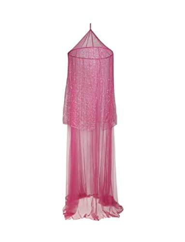 Justice For Girls Hot Pink Sparkle Net Bed Canopy (Hot Pink Bed Canopy compare prices)