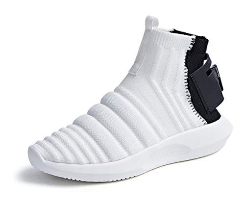 Correr para Lucdespo Zapatos Botas elásticos Cortas Señoras Casuales Botas Deportivos de Correr Zapatos Estilo Punto Zapatos Zapatos blanco de Calcetines Moda para de URx4rUv