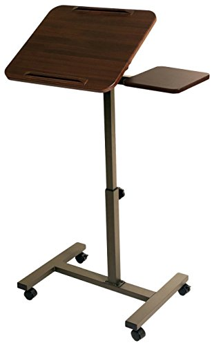 Seville Classics Sit-Stand Desk Cart with Side Table (Laptop Portable Cart)