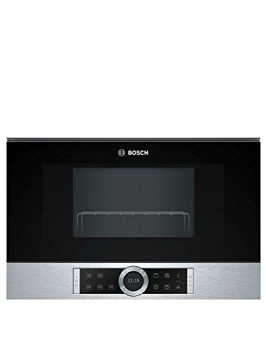 Bosch BEL634GS1 Serie 8 - Microondas integrable / encastre, 21 L, 900 W, color negro con acero inoxidable