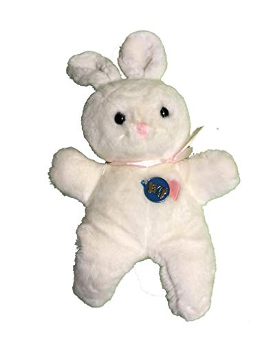Dakin Stuffed Plush Bunny Rabbit Lovey with Pink Heart 18