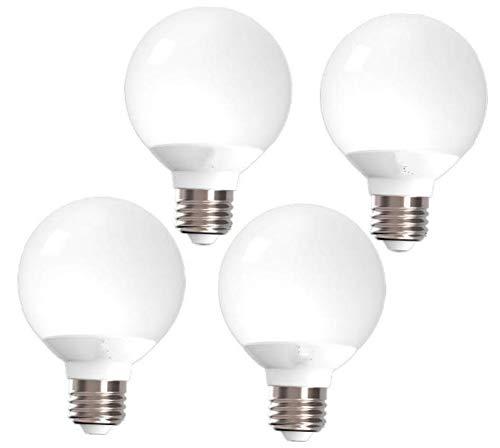 RK269 SCCO 4 Pcs Led Light Bulb G25 Vanity 6w 40w 450 Lumen 5000k Daylight Dimmable
