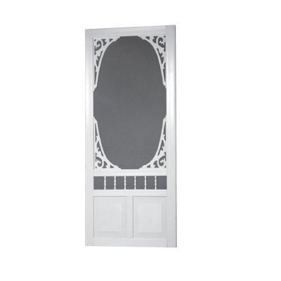 - Screen Tight GAN36 Solid Vinyl Screen Door, White, 36-Inch by 80-Inch