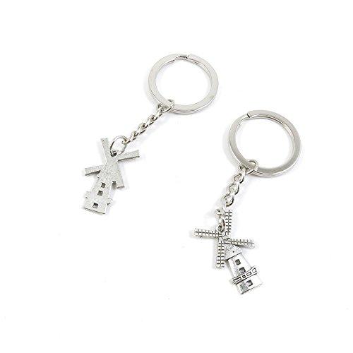 100 Pieces Keychain Keyring Door Car Key Chain Ring Tag C...