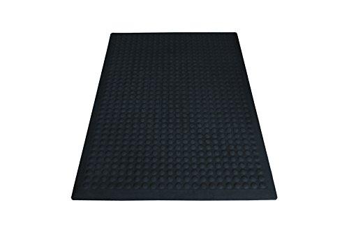 miltex 17032 Bodenmatte Yoga Flex Industrie, Einzelmatte, 60 x 90 cm, schwarz