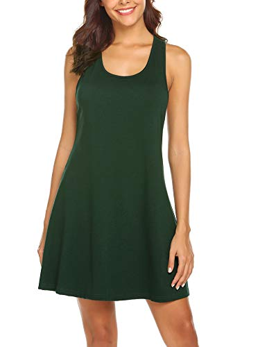 (Avidlove Sexy Sleepwear for Women Tank Nightgown Chemise Racerback Sleeveless Sleep Dress Dark)