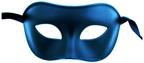 [Luxury Mask Assorted Venetian Party Halloween Mask, Blue, One Size] (Blue Mardi Gras Mask)