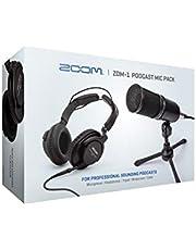 Zoom ZDM-1 Podcast Mic Pack, Podcast, micrófono dinámico, Auriculares, trípode, Parabrisas, Cable XLR, para grabación de podcasts