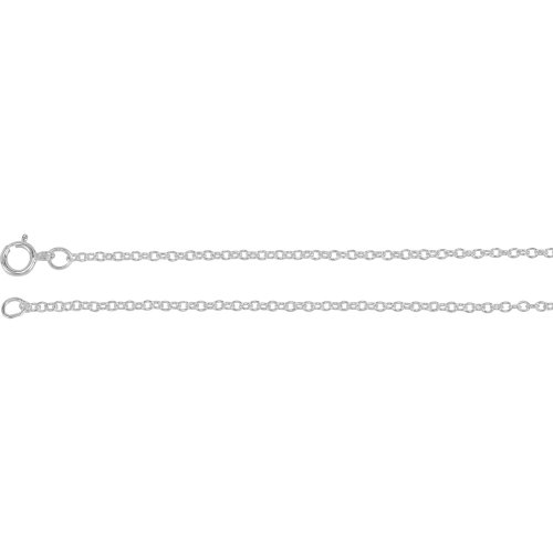(1.5 mm Solid Cable Chain in Platinum ( 16-Inch ) )