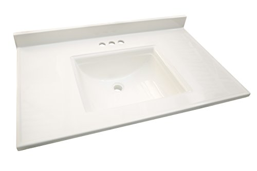 Design House 557629 Camilla Vanity Top with 4