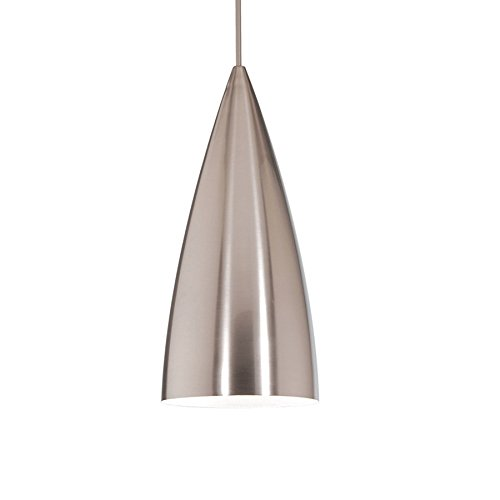 WAC Lighting MP966BNBN Bullet-One Light Pendant, Brushed Nickel (Rail Monopoint Connector)