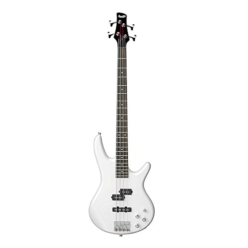 ibanez gsr200pw gio 4 string electric bass guitar in pearl white finish with clip on guitar