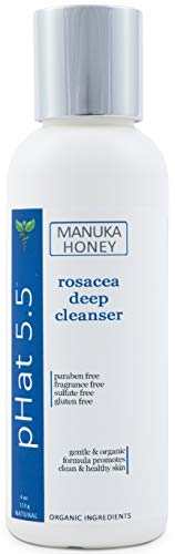 Exfoliating Face and Body Scrub for Rosacea - Treatment for Dry and Itchy Skin - Redness Relief for Face - Natural and Organic Face & Body Exfoliator With Manuka Honey and Aloe Vera (4 oz)