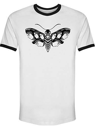 Hand Drawn Moth Art Tee Men's -Image by Shutterstock from Teeblox