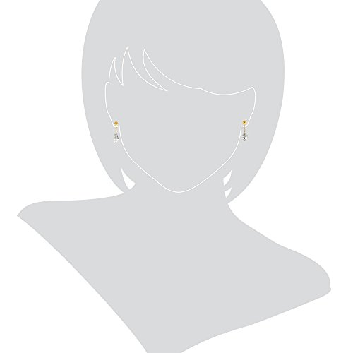 Gioiello Italiano Boucles d'oreille en or blanc et jaune 14carats