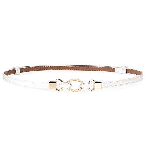 LuxuryWhite Dress Belt for Women, Adjustable Waist Belt for Waist 23-40inch