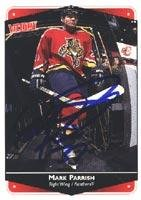 - Mark Parrish Florida Panthers 1999 Victory Autographed Card - Rookie Card. This item comes with a certificate of authenticity from Autograph-Sports. Autographed