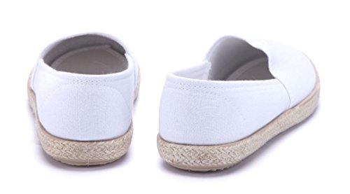 Schuhtempel24 Damen Schuhe Halbschuhe Flach Weiß