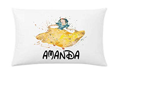 watercolor snow white pillowcase, personalized pillowcase, birthday gift, Children's Pillow Case, Kid's Bedroom, Toddler Room, Baby Room, girl's bedroom