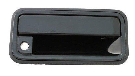 93 K1500 Pickup (Front Outside Passenger Door Handle Black 88 - 94 Chevrolet Silverado GMC Sierra 92-94 Suburban Tahoe Yukon)