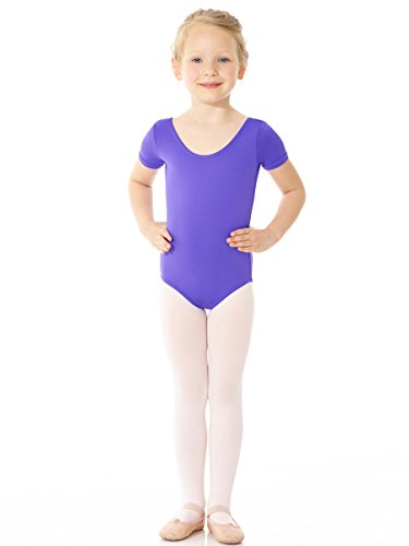 Mondor Essentials Short Sleeve Leotard 41096 (Adult Medium, Purple)