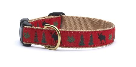 Moose Dog Collar with Quick Release Buckle - X-Small (6-12 Inches) - 5/8 in Width
