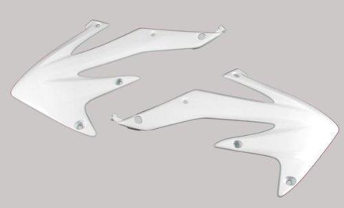 (UFO Plastics Radiator Cover Black/White for Kawasaki KX450F 08)