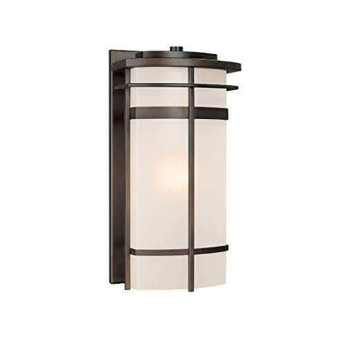 - Capital Lighting 9881OB Lakeshore 1-Light Outdoor Wall Lantern, Olde Bronze with Frosted Glass