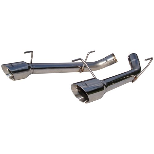 MBRP S7202304 T304 Stainless Steel Dual Axle Back Muffler Delete Pipe