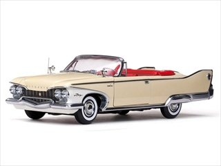 1960 Plymouth Fury Open Convertible Buttercup Yellow 1/18...