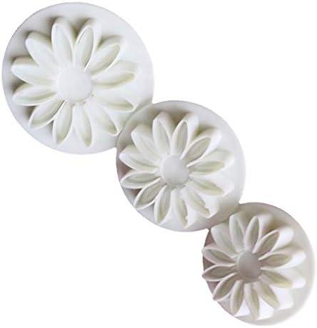 3Pcs Zonnebloem Plunger cakevorm Candy Sugarcraft Flower Modelling Home Kitchen bakvormen Molud