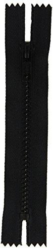 Coats Thread & Zippers F45 7-2-BLK Sport Closed Bottom Zipper, 7