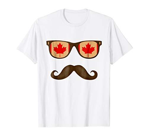Canadian Flag Sunglasses Moustaches T-shirt Canada ()