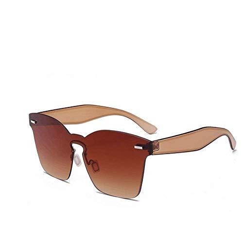 Soleil De LBY Brown Super Brown Soleil Colorées Couleur Lunettes Transparentes de Lunettes Rétro Femme Fqzqf5w