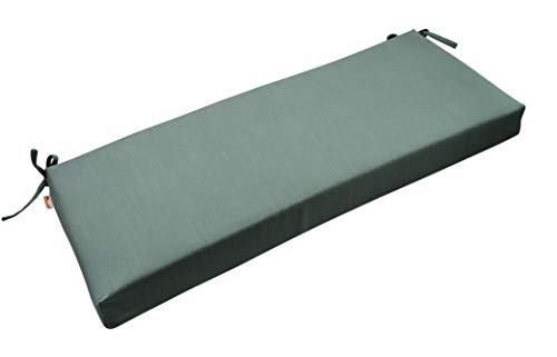 RSH Décor Indoor/Outdoor Bench Cushion Made from Premium Sunbrella Canvas Spa Blue Green Fabric - 2