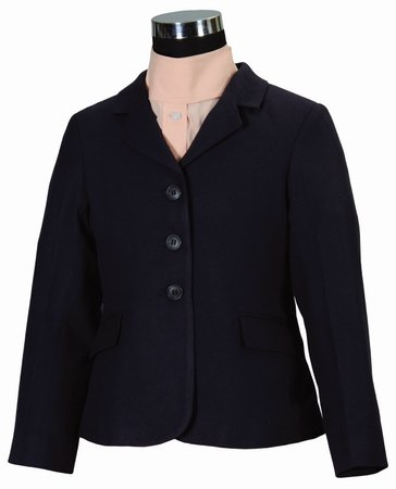 Childs Show Coat - TuffRider Children's Starter Show Coat, Navy, 14