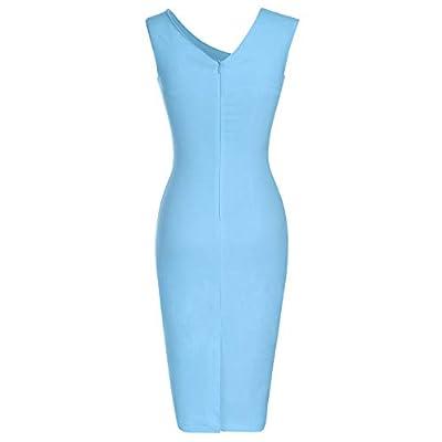 MUXXN Women's Retro 1950s Style Sleeveless Slim Business Pencil Dress: Clothing