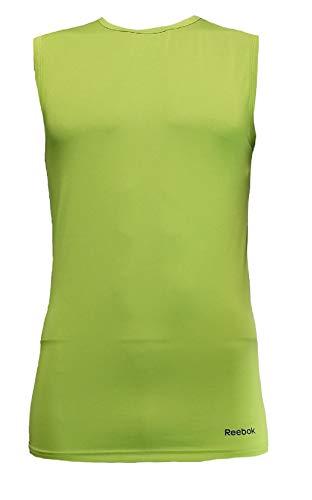 - Reebok Men's Performance Workout Tank Top Sleeveless Activewear (Ultra Lime, Medium)