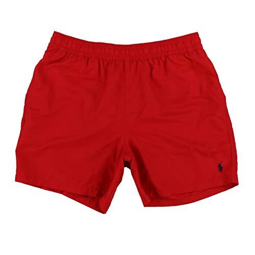 Polo Ralph Lauren Mens Drawstring Swim Trunks (XX-Large, Red)