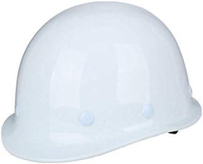 ヘッド保護 建設ヘルメット - ハード非換気ハットセーフティハードハットパーソナル保護装置4点ラチェットサスペンション調整可能ヘルメット 作業安全装置 (色 : 白)