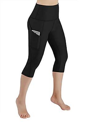 ODODOS High Waist Out Pocket Yoga Capris Tummy Control Workout Running 4 Way Stretch Yoga Pants,Leggings