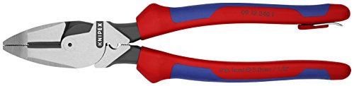 Knipex Tools 09 12 240 T BKA 9 1/4'' Ultra-High Leverage Lineman's Pliers with Fish Tape Puller, Crimper, Tether Attachment by KNIPEX Tools (Image #2)