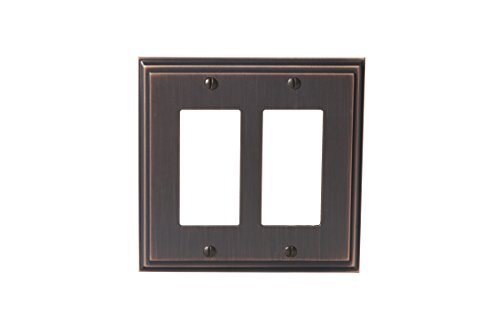 Amerock BP36519ORB Mulholland 2 Rocker Wall Plate - Oil-Rubbed (Bronze Cover Plate)