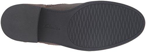 Clarks Women's Nevella Devon Boot, Grey, US US Dark Taupe Leather